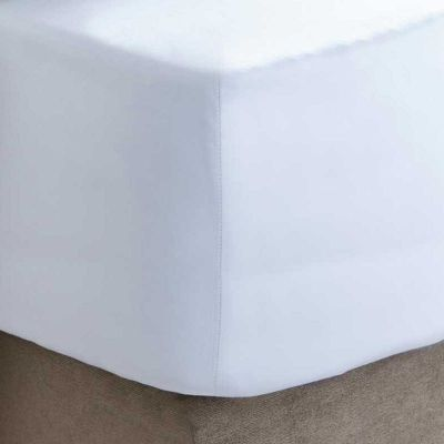 200 Thread Count Percale Fitted Sheet - White