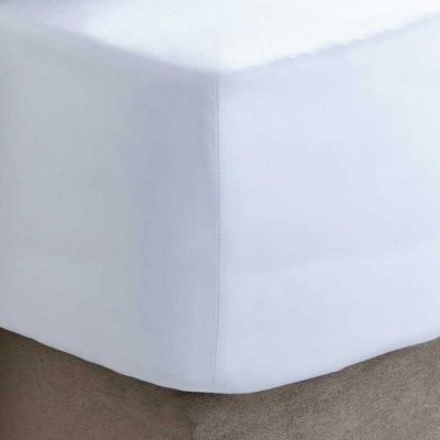 200 Thread Count 100% Egyptian Cotton Fitted Sheet - White