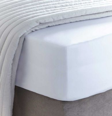 400 Thread Count Egyptian Cotton Deep Fitted Sheet - White