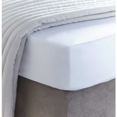 400 Thread Count Egyptian Cotton Fitted Sheet - White