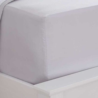 400 Thread Count Sateen Fitted Sheet - Grey