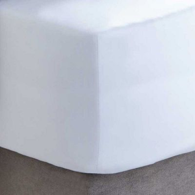 600 Thread Count Sateen Fitted Sheet - White