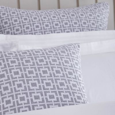 Alexandria Cushion Cover - Grey/White