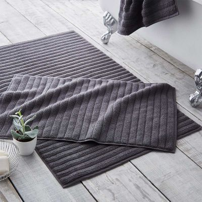 Monaco Supreme Cotton Bath Mat - Charcoal