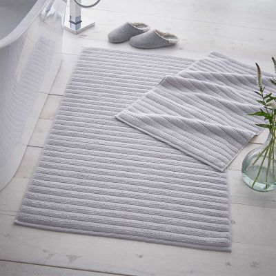 Monaco Supreme Cotton Bath Mat - Light Grey
