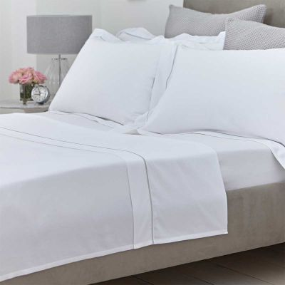 Oxford Flat Sheet - 400 Thread Count - King Size - Grey