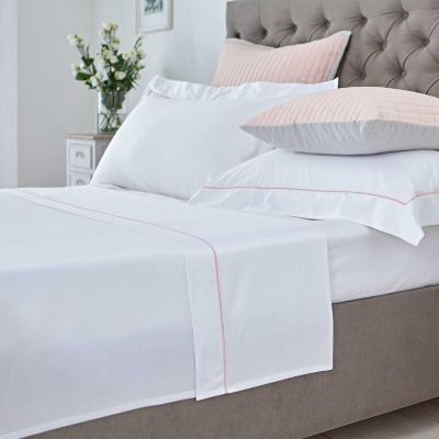 Mayfair Flat Sheet - 400 Thread Count - Pink