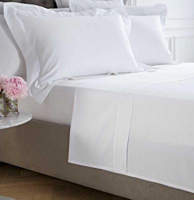 Oxford Flat Sheet - 400 Thread Count - King Size - White