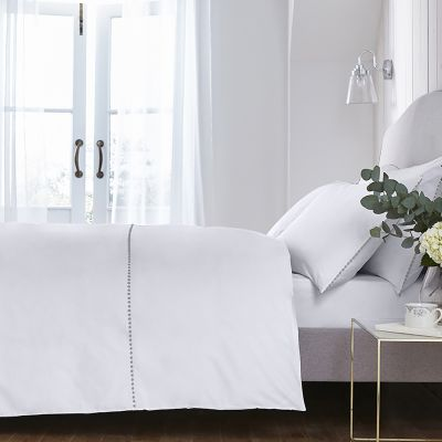 Girona Bed Linen Collection - 200 TC - Cotton  - White/Sage