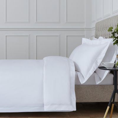 Kensington Bed Linen Collection - 800 TC - Egyptian Cotton - White/Grey