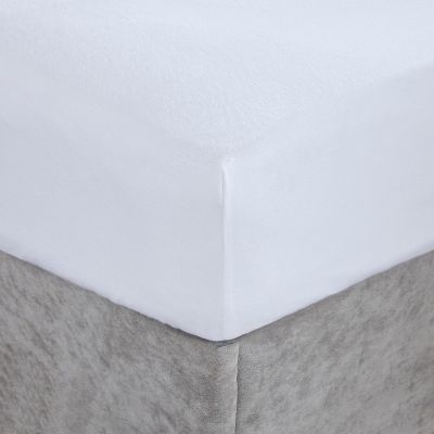 Brushed Cotton Fitted Sheet - White