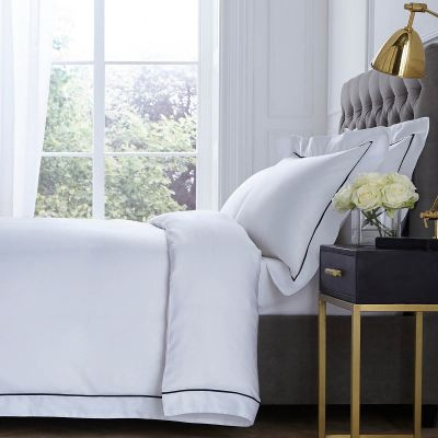 Mayfair Bed Linen Collection - 400 Thread Count - White/Black