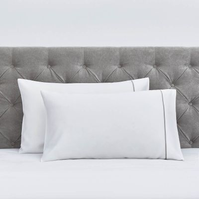 Pair of Mayfair Classic Pillowcases - 400 TC - Egyptian Cotton - Dark Grey