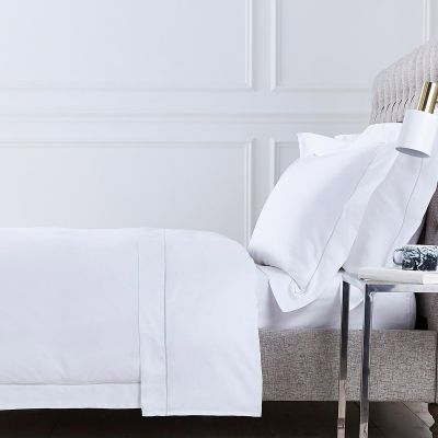 Mayfair Bed Linen Collection - 400 TC - Egyptian Cotton - White/Grey