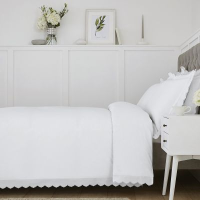 Palermo Bed Linen Collection - 200 TC - Cotton - White/Silver