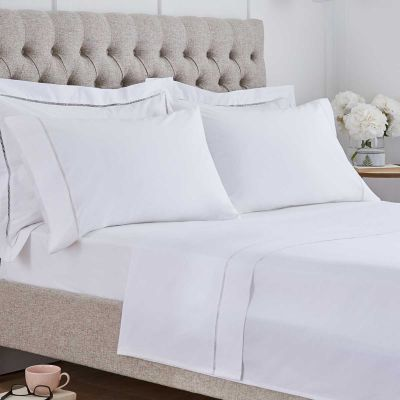 Paris Flat Sheet - 200 Thread Count - White