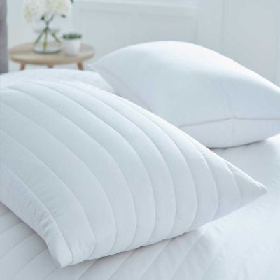Pair of Luxury Quilted 100% Cotton Pillow Protectors