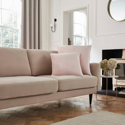 Luxury Velvet Sofa Cushion Cover - Pink