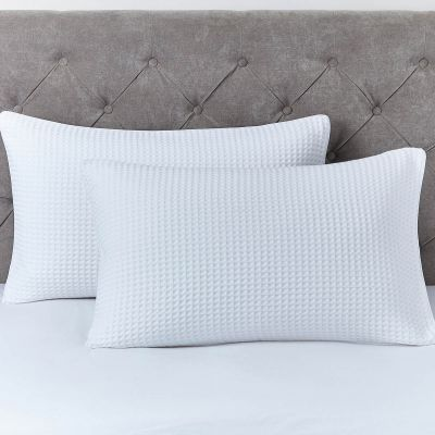 Pair of Portofino Pillowcases - 200 TC - Cotton - White