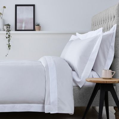 Positano Bed Linen Collection - 400 TC - Cotton - Grey/White