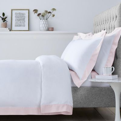 Positano Duvet Cover - 400 Thread Count - White/Pink
