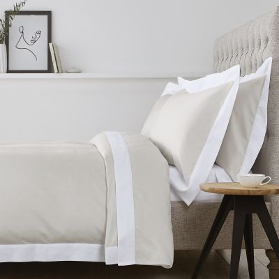 Positano Bed Linen Collection - 400 Thread Count - Natural/White