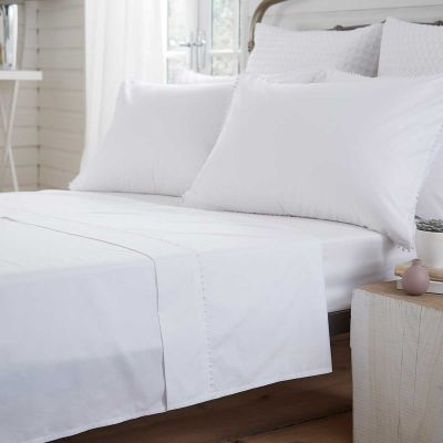 Girona Flat Sheet - 200 Thread Count - White
