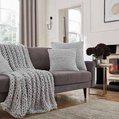 St Ives Sofa Throw 1.2m x 1.8m - Light Grey