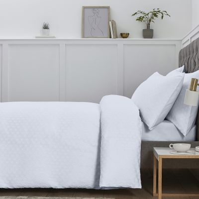 Syros Bed Linen Collection - 200 TC - Cotton - White