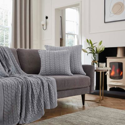 Vermont Sofa Throw 1.5m x 1.8m - Grey