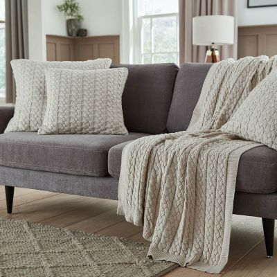 Vermont Sofa Throw 1.5m x 1.8m - Stone