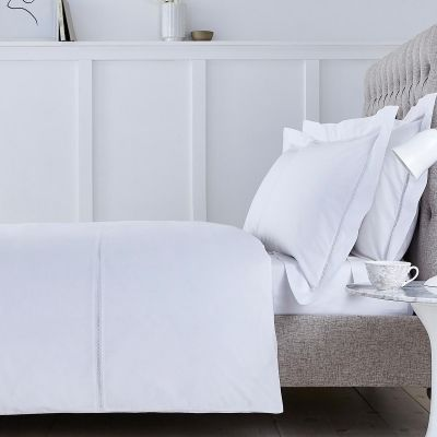 Lisbon Duvet Cover - 200 TC - Cotton - White