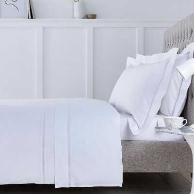 Lisbon Bed Linen Collection - 200 TC - Cotton - White