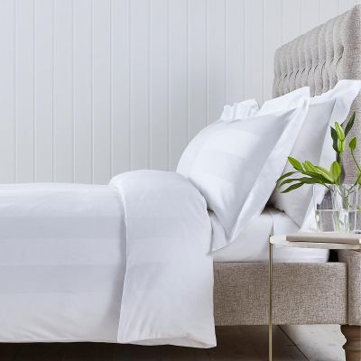 Wimbledon Duvet Cover - 400 TC - Cotton - White