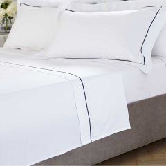 Mayfair Flat Sheet - 400 Thread Count - King Size - Navy