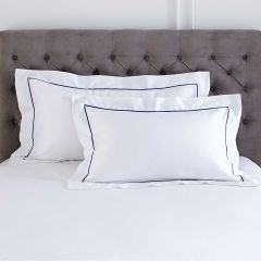 Pair of Mayfair Oxford Pillowcases - Standard - 400 Thread Count - Navy
