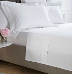 Mayfair Flat Sheet - 400 Thread Count - Double - White