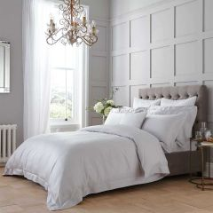Henley Duvet Cover - 400 Thread Count - King Size - Grey/White