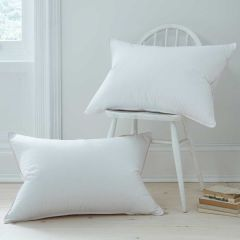 Pair of Duck Feather and Down Medium Support Pillows - Standard