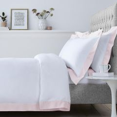 Positano Duvet Cover - 400 Thread Count - Double - White/Pink