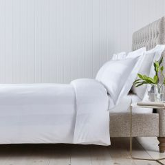 Wimbledon Duvet Cover - 400 Thread Count - King Size - White