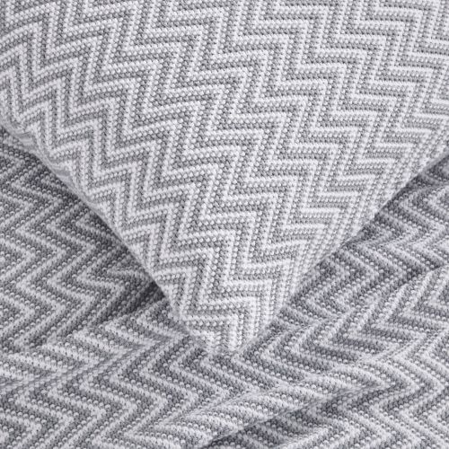 Santorini Sofa Throw 1.5m x 1.8m - White/Grey