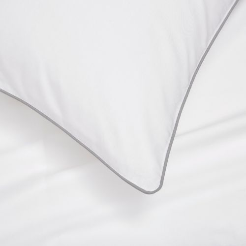 Albany Bed Linen Collection - 200 Thread Count - White/Grey