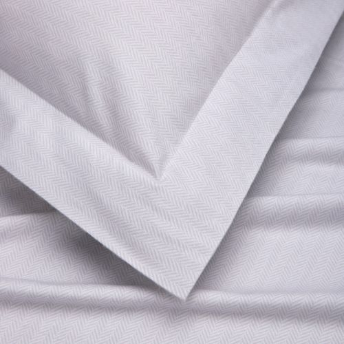 Pair of Ambleside Pillowcases - Brushed Cotton - Grey/White