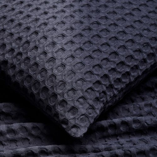 Connection Waffle Bedspread 2.5m x 2.6m - Navy