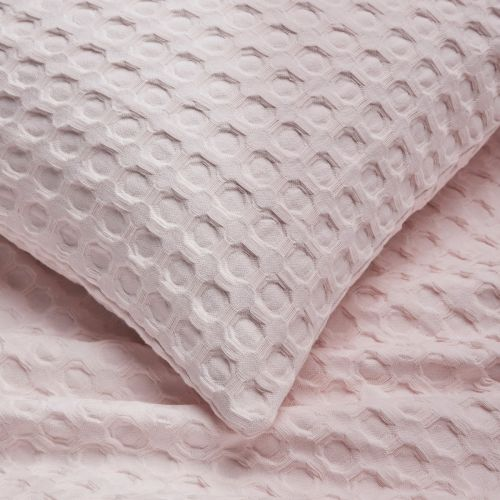 Connection Waffle Throw 1.5m x 2m  - Pink