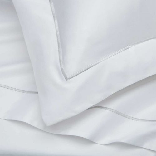 Pair of Oxford Pillowcases - Super King - 400 Thread Count - Grey