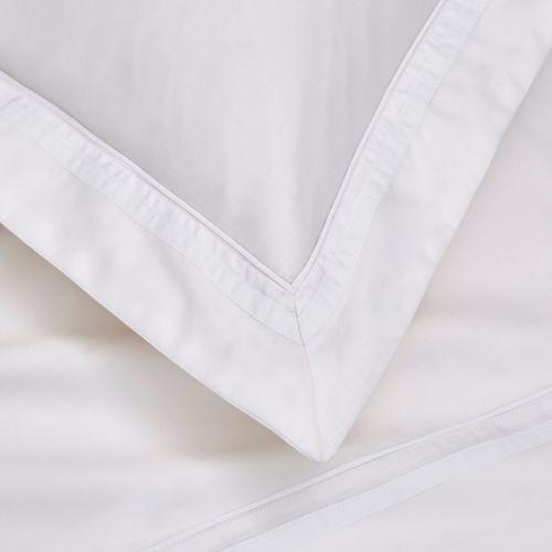 Knightsbridge Duvet Cover - 600 TC - Egyptian Cotton - White