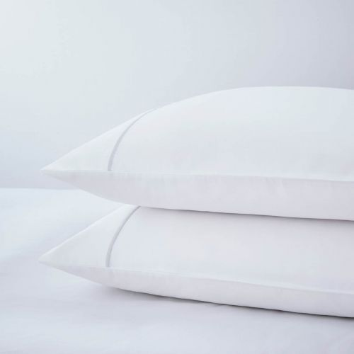 Pair of Mayfair Classic Pillowcases - 400 TC - Egyptian Cotton - Grey