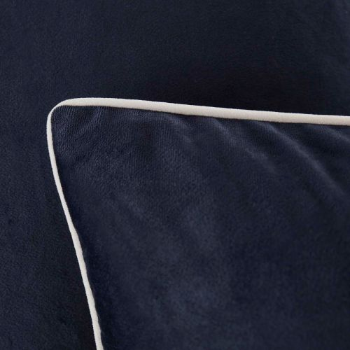 Luxury Velvet Sofa Cushion Cover - Navy